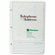 Wilson Jones® Looseleaf Phone/Address Book Refill, 5-1/2 x 8-1/2, 80 Sheets/Pack