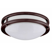 "Amax Lighting LED-JR001BRZ 10"" LED 2 Ring Ceiling Fixture, 14W, 4000 CCT, 1200 Lumen, 82 CRI, Bronze"