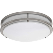 Amax Lighting LED-JR001NKL LED Ceiling Fixtures, 14W, 4000 CCT, 1200 Lumens, 82 CRI, Nickel