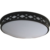 "Amax Lighting LED-JR002DB 14"" LED Diamond Ceiling Lattice, 20W, 4000 CCT, 1660 Lumen, 82 CRI, Bronze"