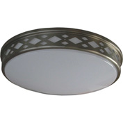"Amax Lighting LED-JR002DN 14"" LED Diamond Ceiling Lattice, 20W, 4000 CCT, 1660 Lumen, 82 CRI, Nickel"