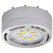 Amax Lighting LEDPL1-NKL LED Puck Light, 4W, 3000 CCT, 360 Lumens, 82 CRI, Nickel