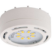 Amax Lighting LEDPL3-WHT LED Puck Light, 12W, 3000 CCT, 1080 Lumens, 82 CRI, White, 3 light kit