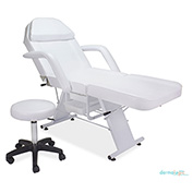 AYC Group Parker Salon Facial Chair with Stool - White