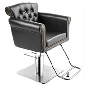 Saloon Styling Chair - Vinyl - Black