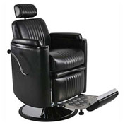 Barrel Barber Chair - Vinyl - Black