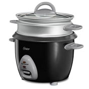 Oster 6 Cup Rice Cooker w/ Steam Tray Black 2 Per Case Price Each Package Count 2