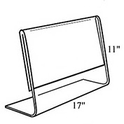 "Azar Displays 112709 Horizontal Slanted L-Shaped Acrylic Sign Holder, 17"" x 11"" , 10-Pack"