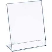 "Azar Displays 112716, L Shaped Acrylic Sign HLR, 7""W x 11""H, 10-Pack"
