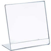 "Azar Displays 112718, L Shaped Acrylic Sign HLR, 8""W x 10""H, 10-Pack"