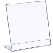 "Azar Displays 112720, L Shaped Acrylic Sign HLR, 5.5""W x 7""H, 10-Pack"