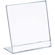 "Azar Displays 112736, Vert L Shaped Acrylic Sign HLR, 3""W x 4""H, 10-Pack"