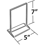 "Azar Displays 142710 Vertical Top Load Acrylic Sign Holder, 5"" x 7"" , 10-Pack"
