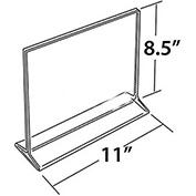 "Azar Displays 142712 Horizontal Top Load Acrylic Sign Holder, 11"" x 8.5"" , 10-Pack"