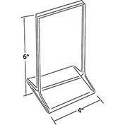 """Azar Displays 142726 Vertical Top Load Acrylic Sign Holder, 4"""" x 6"""", Acrylic , 10-Pack"""