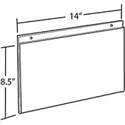 "Azar Displays 162706 Horizontal Wall Mount Sign Holder, 14"" x 8.5"", Acrylic , 10-Pack"