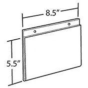 "Azar Displays 162727 Horizontal Wall Mount Acrylic Sign Holder, 8.5"" x 5.5"", Acrylic , 10-Pack"