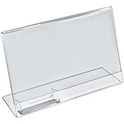 """Azar Displays 252044, L-Shaped Acrylic Sign HLR W/Business Card Pocket, 11""""W x 8.5""""H, 10-Pack"""