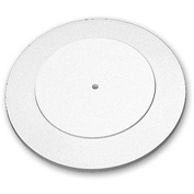 "Azar Displays 610109-WHT, Flat Revolving Display Base, 0.75""H x 9""Dia, WH, 10-Pack"
