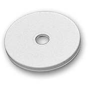 "Azar Displays 610133-WHT, Flat Revolving Display Base, 0.5""H x 3""Dia, WH, 10-Pack"