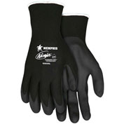 MCR Safety N9699L Ninja® HPT PVC Coated Nylon Gloves, 15 Gauge, Large, Black