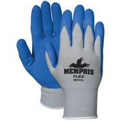 MCR Safety 96731S Memphis Flex Seamless 13 Gauge Nylon Knit Gloves, Small, Blue/Gray, 1 Pair