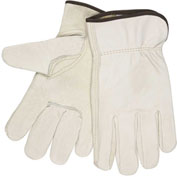 MCR Safety 3211L Leather Drivers Gloves, Unlined Select Grain Cow Leather, Large