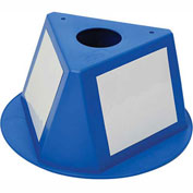 Inventory Cone Blue 3-Sided With Dry Erase Decal