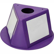 Inventory Cone Purple 3-Sided With Dry Erase Decal