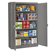 "Tennsco 48""W Jumbo Storage Cabinet - 48X18X78"" - All-Welded - Gray"