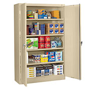 "Tennsco 48""W Jumbo Storage Cabinet - 48X18X78"" - All-Welded - Sand"