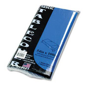 "Table Set TBL549BL - Rectangular, Heavyweight Plastic Table Cover, 54"" x 108"", Blue, 6/Pack"