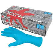"MCR Safety 6012L Nitri-Med Nitrile Medical Grade Gloves, 6 mil, Textured, 12"" Powder Free, Large"