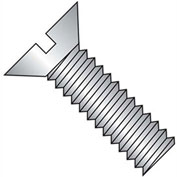 "1/4-20 x 1-1/2"" Machine Screw - Flat Head - Slotted - Brass - Plain - Pkg of 100 - BBI 116065"