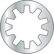 "Internal Tooth Lock Washer - 1/4"" - Steel - Zinc CR+3 - Pkg of 2500 - BBI 240070"