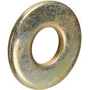 "Flat Washer - 1/4"" - Steel - Zinc Yellow - USS - Made In USA - Pkg of 100 - Brighton-Best 351050"