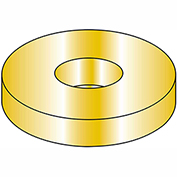 "Flat Washer - 3/8"" - Thru Hardened Medium Carbon Steel - Zinc Yellow - SAE - Pkg of 100 - BBI 383150"