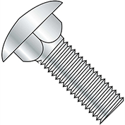 "Carriage Bolt - 3/8-16 x 5"" - Round Head - Steel - Zinc CR+3 - Grade A - FT - A307 - Pkg of 25"