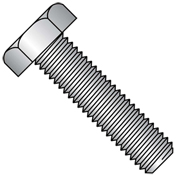 "Hex Tap Bolt - 1/4-20 x 1"" - Grade A - Low Carbon Steel - Zinc CR+3 - FT - UNC - A307 - Pkg of 100"