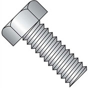 "10-32 x 1"" Machine Screw - Indented Hex Head - Unslotted - Steel - Zinc CR+3 - UNF - FT - Pkg of 100"