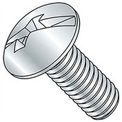 "10-24 x 6"" Machine Screw - Truss Head - Phillips/Slotted - Steel - Zinc CR+3 - FT - UNC - Pkg of 100"