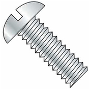 "1/4-20 x 5"" Machine Screw - Round Head - Slotted - Steel - Zinc CR+3 - FT - Pkg of 100 - BBI 583691"