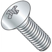 "1/4-20 x 4"" Machine Screw - Oval Head - Phillips - 18-8 Stainless Steel - FT - UNC - Pkg of 100"