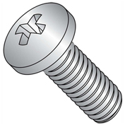 "Machine Screw - 8-32 x 3/8"" - Phillips Pan Head - 18-8 (A2) Stainless Steel - UNC - FT - 1000 Pack"