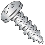 "Self Tapping Screw - #10 x 1"" - Phillips Pan Head - Type A - FT - 18-8 (A2) Stainless Steel - 500 Pk"