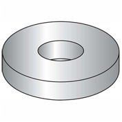 "Flat Washer - 1/4"" - Low Carbon Steel - Zinc Clear CR+3 - USS - Pkg of 100 - BBI P43002"