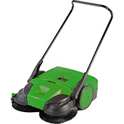 "Bissell 38"" Battery Powered Triple Brush Push Power Sweeper, 13.2 Gallon Capacity - BG697"
