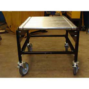 "BestFlex™ Rigid Impact Conveyor Cart RIC2436PW - 24"" Width - 36""L Steel Rollers 200 Lb/ft"