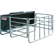 "Behlen Country Calf Creep Feeder W/ Molded-in Side Defectors & Simple Lid, 1200Lbs-40 Calf Cap. 47""L"