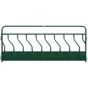 "Behlen Country Hay Feeder Panel With S-Bar 9 Feeding Spaces 144""L x 2""W, Green"